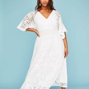 Lane Bryant Split Kimono Sleeve Maxi Dress 10/12